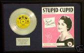 "CONNIE FRANCIS-7""Platinum Disc &songsheet -STUPID CUPID"